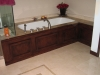 Inlay Jacuzzi with custom stain color, floor tile in Sherman Oaks