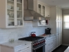 White kitchen cabinets with Marble counter top in Lake Balboa