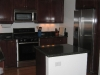 Modern, Dark kitchen cabinets