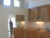 Custom wall cabinets, first floor room addition with open floor plan